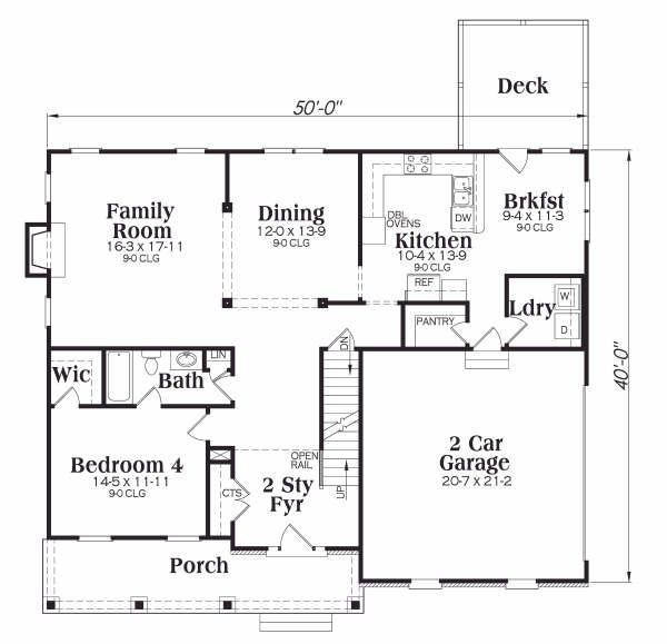 Traditional Floor Plan - Main Floor Plan Plan #419-152