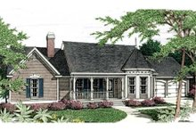 Country Exterior - Front Elevation Plan #406-201