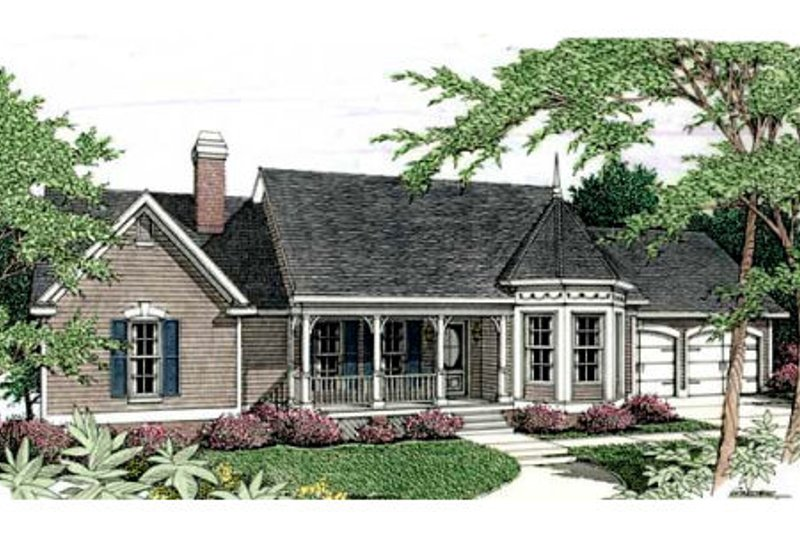 Country Exterior - Front Elevation Plan #406-201 - Houseplans.com