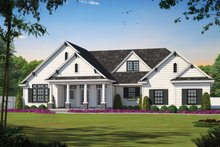 House Plan Design - Craftsman Exterior - Front Elevation Plan #20-164