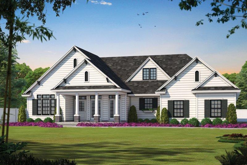 Home Plan - Craftsman Exterior - Front Elevation Plan #20-164