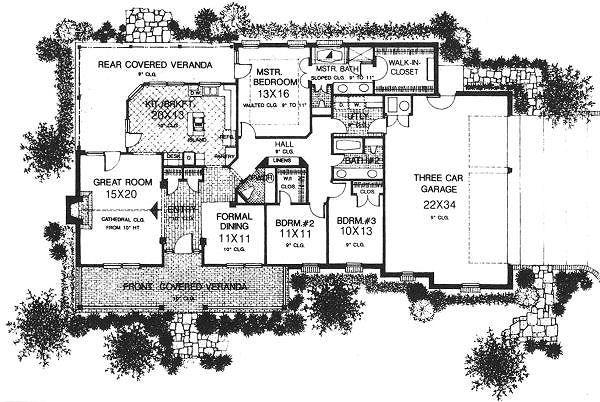 Farmhouse Floor Plan - Main Floor Plan Plan #310-607