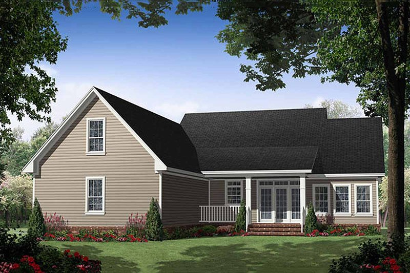 Southern Exterior - Rear Elevation Plan #21-255 - Houseplans.com