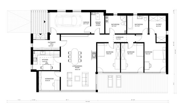 Contemporary Floor Plan - Main Floor Plan Plan #906-21