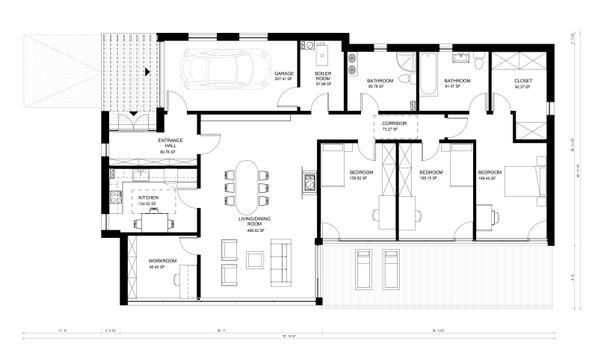 Contemporary Floor Plan - Main Floor Plan #906-21