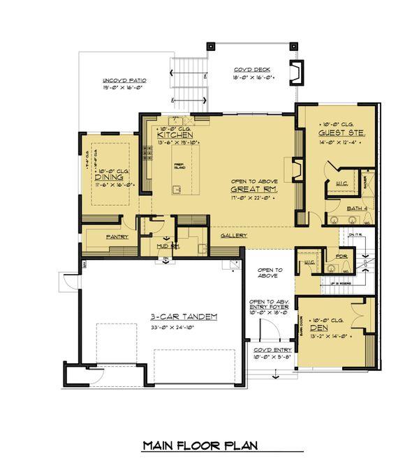 House Plan Design - Contemporary Floor Plan - Main Floor Plan #1066-56