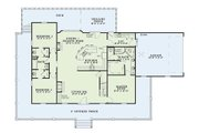 Farmhouse Style House Plan - 3 Beds 3 Baths 1921 Sq/Ft Plan #17-415 Floor Plan - Main Floor