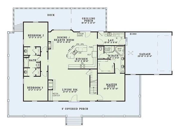 Home Plan - Farmhouse Floor Plan - Main Floor Plan #17-415