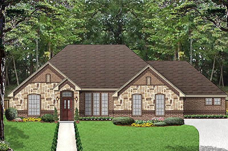 European Exterior - Front Elevation Plan #84-530