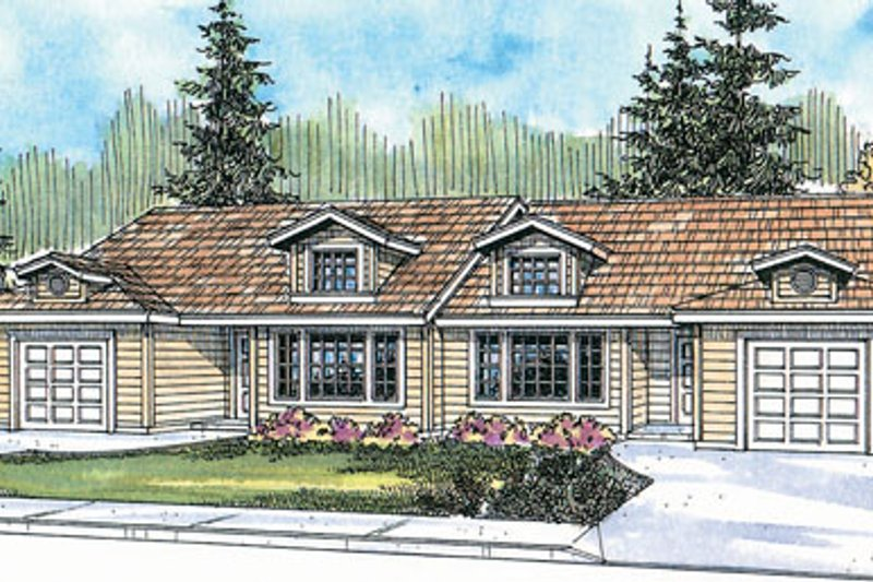 Exterior - Front Elevation Plan #124-807