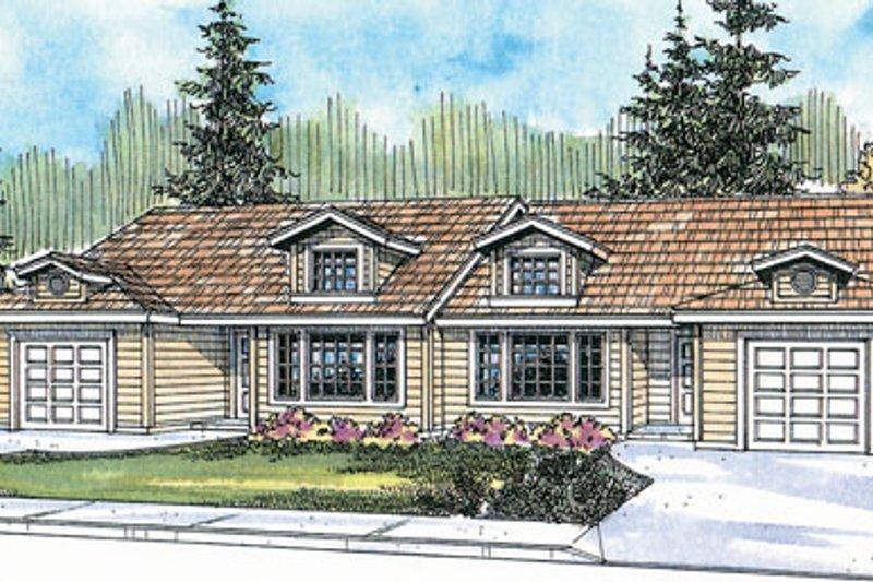 Dream House Plan - Exterior - Front Elevation Plan #124-807