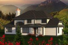 Dream House Plan - European Exterior - Rear Elevation Plan #70-1179