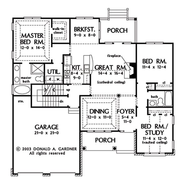 Home Plan - Opt. Basement Stair Location