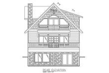 Architectural House Design - Contemporary Exterior - Rear Elevation Plan #117-870