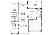 Farmhouse Style House Plan - 4 Beds 5 Baths 3536 Sq/Ft Plan #928-310 Floor Plan - Main Floor