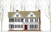 Country Style House Plan - 4 Beds 3.5 Baths 3800 Sq/Ft Plan #481-8 Exterior - Front Elevation