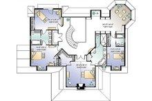 Traditional Floor Plan - Upper Floor Plan Plan #23-584