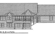 Traditional Style House Plan - 3 Beds 2.5 Baths 1700 Sq/Ft Plan #70-175 Exterior - Rear Elevation