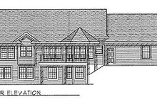 Dream House Plan - Traditional Exterior - Rear Elevation Plan #70-175