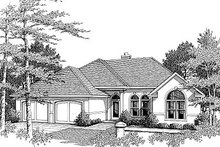 Mediterranean Exterior - Front Elevation Plan #14-156