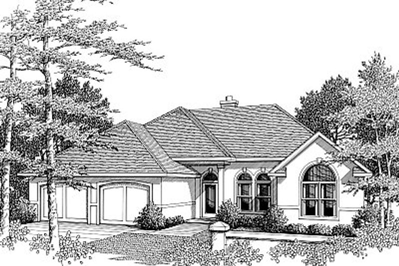 Mediterranean Exterior - Front Elevation Plan #14-156 - Houseplans.com