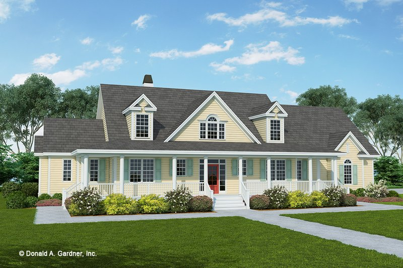 Country Exterior - Front Elevation Plan #929-535
