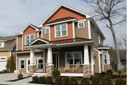 Craftsman Style House Plan - 4 Beds 3.5 Baths 2506 Sq/Ft Plan #20-2325 Exterior - Front Elevation