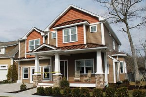Craftsman Exterior - Front Elevation Plan #20-2325