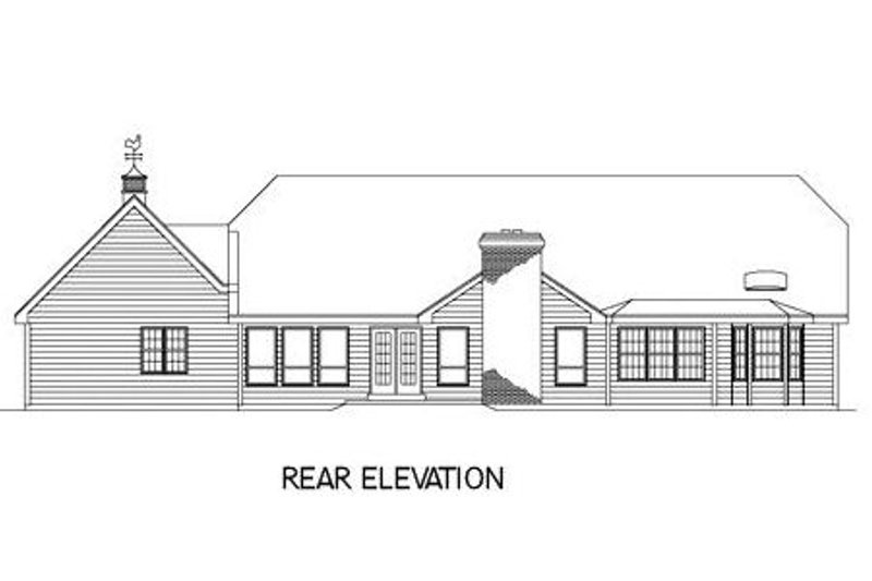 Traditional Exterior - Rear Elevation Plan #57-102 - Houseplans.com