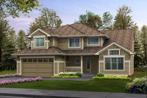 Craftsman Exterior - Front Elevation Plan #132-108