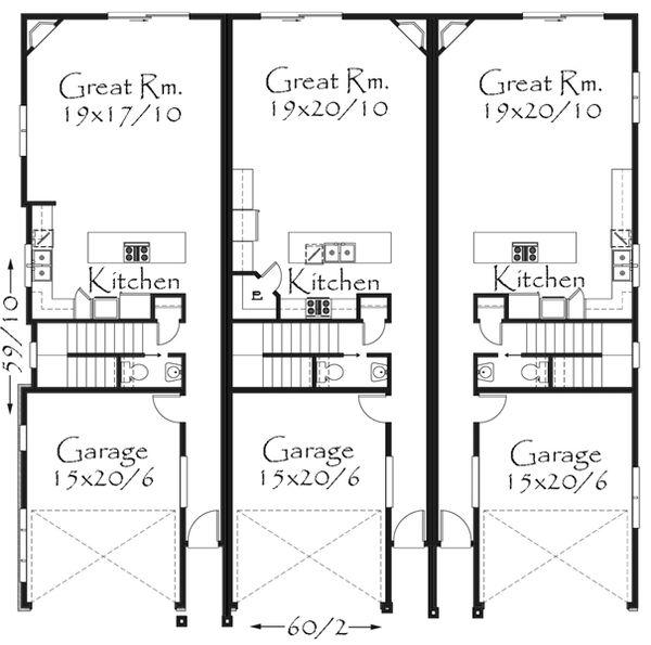 Tudor Floor Plan - Main Floor Plan Plan #509-33