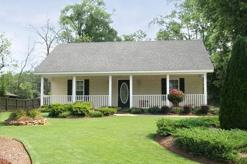 Cottage Style House Plan - 2 Beds 1 Baths 864 Sq/Ft Plan #44-114 Exterior - Front Elevation