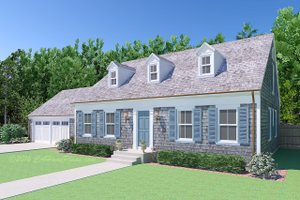 Colonial Exterior - Front Elevation Plan #489-8