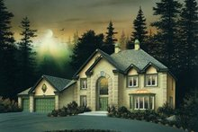 Dream House Plan - European Exterior - Front Elevation Plan #57-136