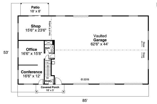 House Plan Design - Country Floor Plan - Main Floor Plan #124-1178