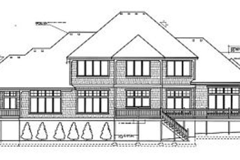 Traditional Exterior - Rear Elevation Plan #97-215 - Houseplans.com