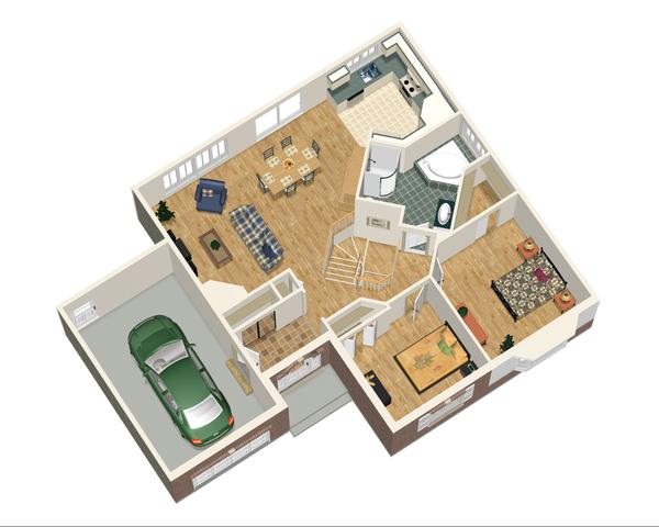Traditional Floor Plan - Main Floor Plan Plan #25-4824
