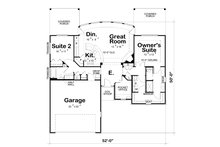 Craftsman Floor Plan - Main Floor Plan Plan #20-2066