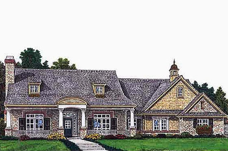 Colonial Style House Plan - 3 Beds 2.5 Baths 2257 Sq/Ft Plan #310-693 Exterior - Front Elevation