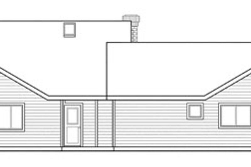 Traditional Exterior - Rear Elevation Plan #124-857 - Houseplans.com