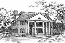 Southern Exterior - Front Elevation Plan #72-383