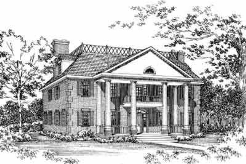 House Design - Southern Exterior - Front Elevation Plan #72-383