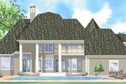 Classical Style House Plan - 4 Beds 3.5 Baths 3610 Sq/Ft Plan #930-271 Exterior - Rear Elevation
