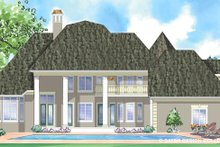Classical Exterior - Rear Elevation Plan #930-271