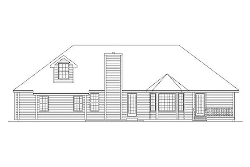 Traditional Exterior - Rear Elevation Plan #57-251 - Houseplans.com