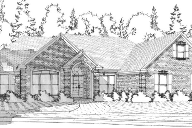 Traditional Style House Plan - 4 Beds 2.5 Baths 2486 Sq/Ft Plan #63-200 Exterior - Front Elevation