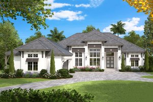 Southern Exterior - Front Elevation Plan #27-554