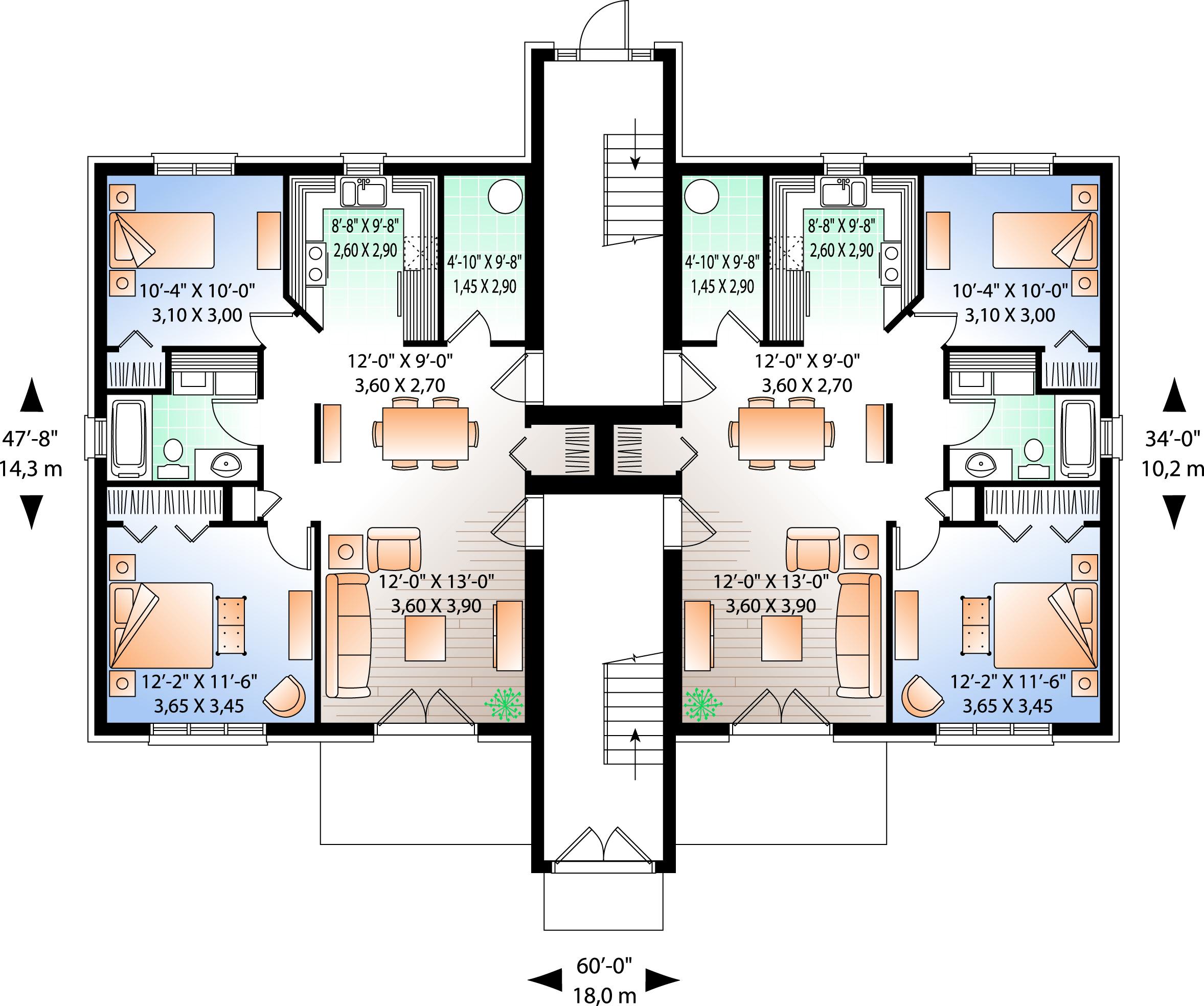 Traditional Floor Plan - Main Floor Plan Plan #23-777
