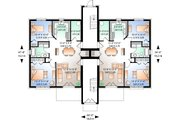 Traditional Style House Plan - 2 Beds 1 Baths 6201 Sq/Ft Plan #23-777 Floor Plan - Main Floor Plan