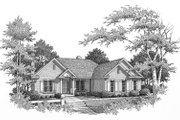 Traditional Style House Plan - 3 Beds 2.5 Baths 2598 Sq/Ft Plan #22-131 Exterior - Other Elevation